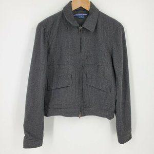 Ralph Lauren Sport Vtg Gray Wool Zip Jacket sz 6